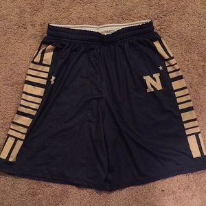 Under Armour women's Navy basketball shorts